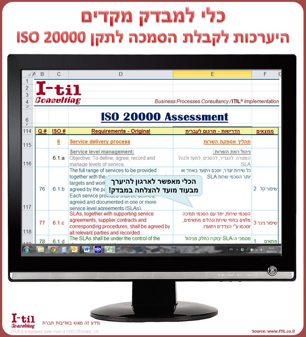 ISO 20000 assessment tool